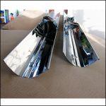Отражатель параболический «Игла» для лампы Т8 25 Вт из нержавеющей стали