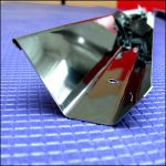 Отражатель трапециевидный для лампы Т8 14 Вт из из  нержавеющей стали