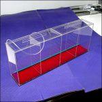 Аквариум - выноска c железным дном размерами 800х300х150