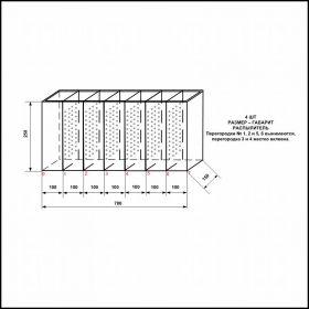 Аквариум - выноска для торговли размерами 700х150х250
