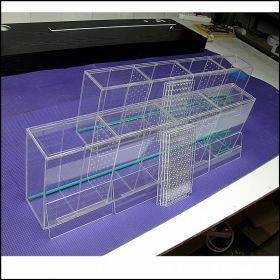 Аквариум - выноска для торговли размерами 800х120х250